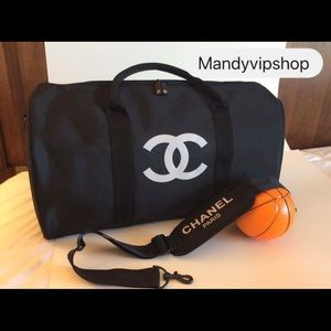 Auth Chanel VIP gift weekender travel gym bag